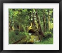 Framed Little Bridge, Pontoise, 1875
