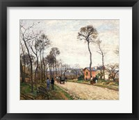 Framed Road from Louveciennes, 1870