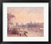 Framed Seine and the Louvre, 1903