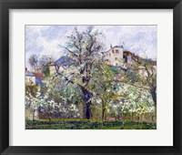 Framed Vegetable Garden with Trees in Blossom, Spring, Pontoise, 1877