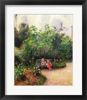 Framed Corner of the Garden at the Hermitage, Pontoise, 1877
