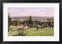 Framed Hillside of Vesinet, Yvelines, 1871
