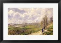 Framed La Sente du Chou, near Pontoise, 1878