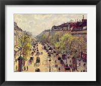 Framed Boulevard Montmartre, Spring, 1897