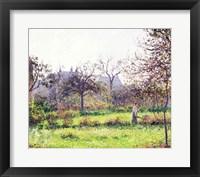Framed Morning Sun, Autumn, Eragny, 1897