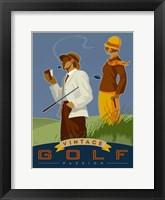 Framed Vintage Golf - Passion