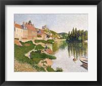 Framed River Bank, Petit-Andely, 1886
