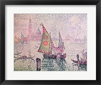 The Green Sail, Venice, 1904 Framed Print