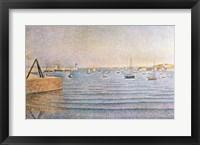 Framed Harbour at Portrieux, 1888