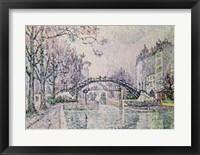Framed Canal Saint-Martin, 1933