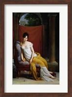 Framed Portrait of Madame Recamier