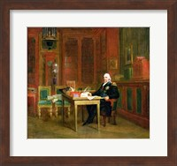 Framed Louis XVIII in his Study at the Tuileries