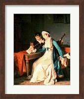 Framed Music Lesson, 1790