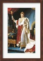 Framed Napoleon I in his coronation robe, c.1804