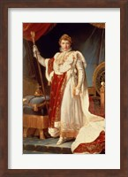 Framed Napoleon in Coronation Robes, c.1804