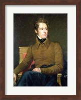 Framed Portrait of Alphonse de Lamartine