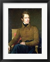 Framed Portrait of Alphonse de Lamartine