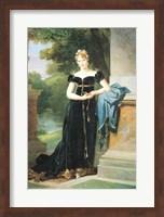 Framed Portrait of Marie Laczinska