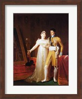 Framed Portrait of Jerome Bonaparte - with a woman