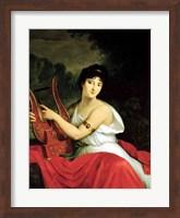 Framed Portrait of Madame de la Pleigne