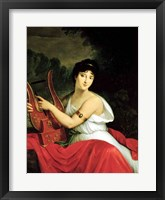 Framed Portrait of Madame de la Pleigne