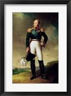 Framed Portrait of Alexander I