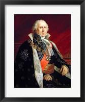 Framed Charles-Francois Lebrun