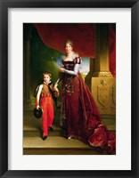 Framed Marie Amelie de Bourbon