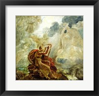 Framed Ossian Conjures Up the Spirits with His Harp on the Banks of the River of Lora