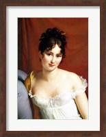 Framed Portrait of Madame Recamier - detail