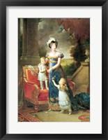 Framed Marie-Caroline de Bourbon
