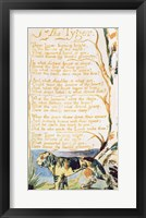 Framed Tyger, from Songs of Innocence