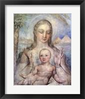 Framed Virgin and Child in Egypt, 1810