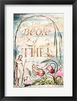 Framed Book of Thel; Title Page, 1789