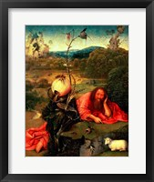 Framed St. John the Baptist in Meditation