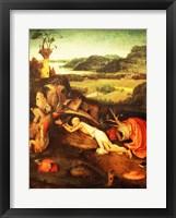 Framed St. Jerome Praying
