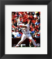 Framed Albert Pujols 2011 Action