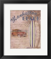 Surf City II Framed Print