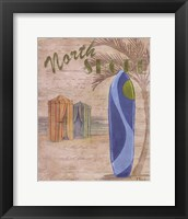 Surf City IV Framed Print