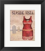 Framed Seaside Vista - mini