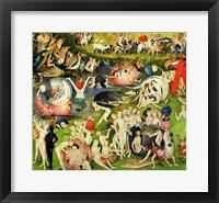 Framed Garden of Earthly Delights: Allegory of Luxury, center panel detail