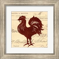 Framed Tuscan Rooster III