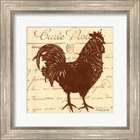 Framed Tuscan Rooster IV