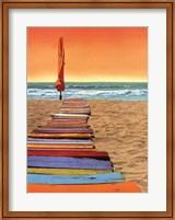 Framed Orange Beachwalk