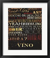 Framed Vino Type
