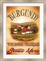 Framed Burgundy
