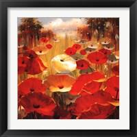 Framed Meadow Poppies III