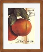 Framed Organic Peaches