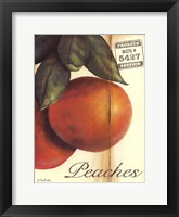 Framed Organic Peaches