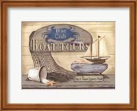 Framed Blue Crab Boat Tours